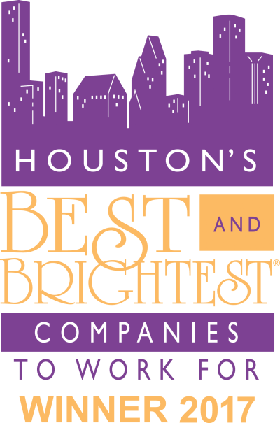 Houston's best and brightest companies to work for 2017 winner logo.